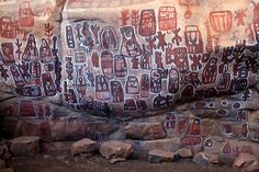 Mali-The meanings of the symbols painted on the cliff face of the initiation camp at Songho are uncertain. They may address local family histories or the grand Dogon cosmology of beginnings, endings and renewals. New York Times
