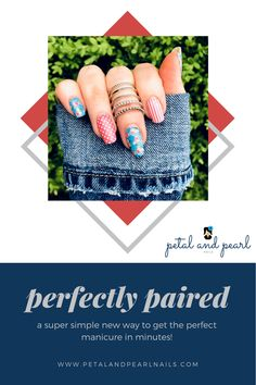 Nail Polish Stickers, Nail Polish Strips, Nail Polish Colors, Manicure At Home, Diy Manicure, Fall Nail Trends, Pink Backdrop, Pearl Nails, Teal Background