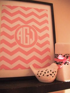 Chevron Monogram Printable: Free...I'm doing this for the nursery...Sara B. this would look good on your gallery wall! :)