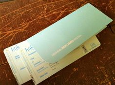wedding invitation: boarding passes + sleeve