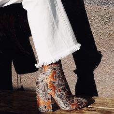 Embroidered boot.