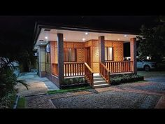 Amakan (Native) Two Bedroom House Rest House Philippines, Philippines House Design, Bahay Kubo Design Philippines, Modern Tropical House, Tropical House Design, Tropical Houses, Modern Wooden House, Small Wooden House, Modern Houses
