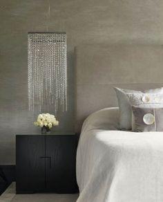 cabecero y colcha en lino natural