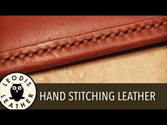 Making a Leather Rolled Handle or Loop for a Bag - YouTube Leather Diy  Crafts d7eb90c01a2c2