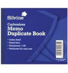 "Buy the new ""Silvine Duplicate Book Feint Ruled 4x5 Carbonless""  online today. Now in stock."