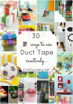 Duct tape tutorials and DIY craft projects to create simple and easy creative home, kids and ladies items. Decorate and refresh old items with duct tape