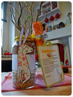 pott-artig Kreativblog: Möhrenkuchen - Backmischung im Glas