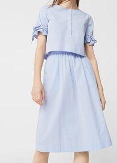 Falda algodón cuadros