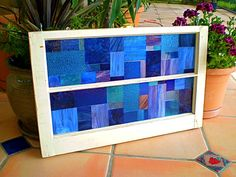 Mosaic Vintage Window with Stained Glass