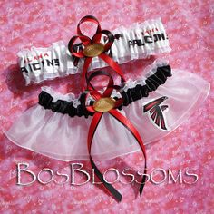 ATLANTA FALCONS Fabric Football Bridal Wedding by BosBlossoms, $29.99