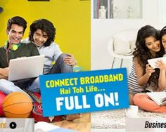 Connect Broadband Plans in Chandigarh are the plans of broadband operated by the Airtel Bharti Limited Incorporation within the areas of Chandigarh, Mohali, Panchkula, Zirakpur and other surroundings.
