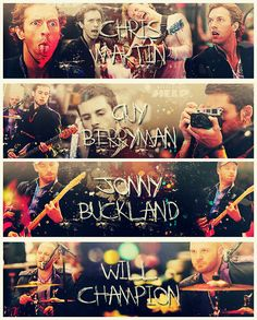 CM + GB + JB + WC = Coldplay