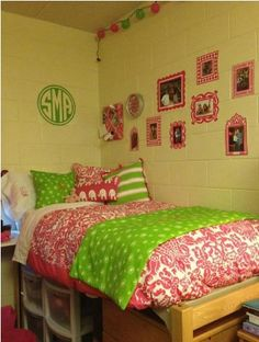 Not crazy about the green and pink but I like the underbed storage