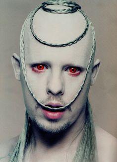 Alexander McQueen by Nick Knight _ frightening alien or zombie-like #art #makeup