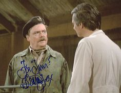 """Bernard Fox - Photo from the television program """"M*A*S*H."""" Acquired in person at The Hollywood Show in Burbank."""
