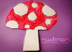 Printable Mushroom Craft