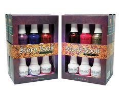 Kiara Sky Story book 12 pc set. Cast a magical spell with Kiara Sky Story Book collection! Six new enchanting colors in matching Gel Polish, Nail Polish and Dip powder! Each color is designed with a special blend of sorcery, sure to grant your wishes every time. Spellbound, Amulet, and Passion Potion will allow you to unleash your powers and guarantee you look fabulous while doing so. Dream Illusion, Fanciful Muse, and Pixie Dust will leave you undeniably persuasive and...