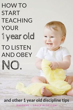 4 amazing 1 year old discipline tips for new moms! If you want to set the foundation for your toddler to obey later, start by using this method for how to teach your 1 year old no grace based parenting; gospel centered parenting 1 year old Parenting Toddlers, Parenting Humor, Parenting Advice, Parenting Classes, Parenting Styles, Parenting Issues, Toddler Behavior, Toddler Discipline, Activities For 1 Year Olds