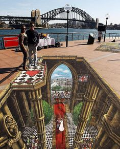 Image detail for -Optical Illusion: Dramatic 3D Pavement Art by Joe Hill – DesignSwan ...