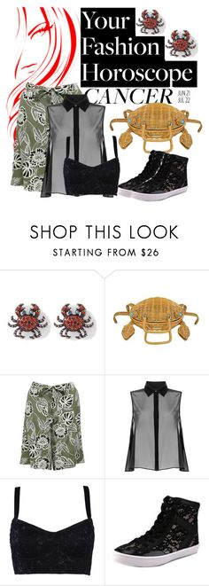 """""""queen crab"""" by ffendi ❤ liked on Polyvore featuring Kate Spade, M&Co, McQ by Alexander McQueen, Dolce&Gabbana, Rebecca Minkoff, fashionhoroscope and stylehoroscope"""