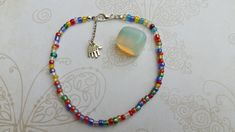 Rainbow Beaded Ankle Bracelet, Anklet, Summer Bracelet, Beach Bracelet,Gift for her, Ready to ship, ToaBeads by ToaBeads on Etsy