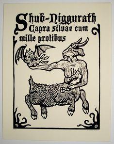 Shub-Niggurath woodblock print
