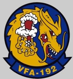 vfa-192 golden dragons crest insignia patch badge strike fighter squadron f/a-18e super hornet nas lemoore us navy