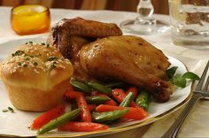 DESCRIPTION    A Cornish hen, roasted to perfection with an apple-scented glaze, is fancy enough for a special occasion, but easy enough for a simple dinner for two.    INGREDIENTS    1 fresh or frozen Rock Cornish hen (24 oz), thawed  3/4 cup ready-to-eat  Healthy Dinner Recipes http://dinnerrecipes.healthandfitnessjournals.com