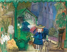 Madeline at the Paris Flower Market, Ludwig Bemelman, 1955.