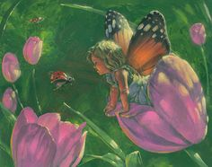 Hey, I found this really awesome Etsy listing at https://www.etsy.com/listing/166196196/tulip-faerie-8-x-10-fine-art-giclee