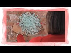 Easy Yarn Circle Decor - YouTube