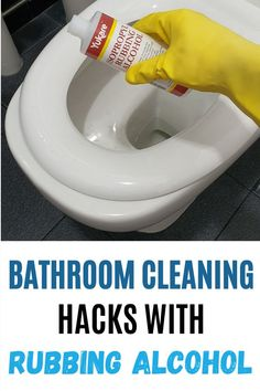 Rubbing alcohol is an awesome cleaning product for every home! It has plenty of household uses when it comes to cleaning and disinfecting. It can be used to disinfect your toilet seat, door knob and remove sticky residues in the bathroom. Here are 25 amazing ways to use rubbing alcohol at home, read the blog to learn all the cleaning tips and tricks! #homewhis #cleaninghacks #cleaningtips #cleaningideas #rubbingalcohol #rubbingalcoholuses Bathroom Cleaning Hacks, Cleaning Spray, Kitchen Cleaning, House Cleaning Tips, Diy Cleaning Products, Deep Cleaning, Rubbing Alcohol Uses, Remove Sticky Residue, Clean Window Blinds