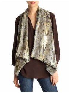 In love with this faux fur vest