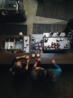 Top down view of coffee baristas - via www.murraymitchell.com