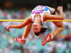 Valentyna Liashenko of Georgia competes in the women's high jump during day ten of the European Games in Baku, Azerbaijan.   Paul Gilham, Getty Images for BEGOC