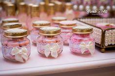Baby Shower Elegante, Shabby Chic Baby Shower, Wedding Candy, Diy Wedding Favors, Party Favors For Kids Birthday, Baby Girl Baptism, Baptism Favors, Diy Gift Box, Jar Crafts