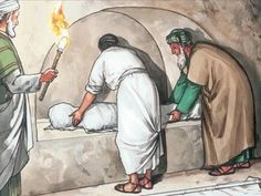 And so, because it was the Jewish day of preparation, and the tomb was nearby, they placed Jesus' body there. – Slide 11