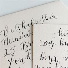 Modern calligraphy by Quill London. Quilllondon.com