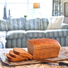 Honey Whole Wheat Bread Recipe - no breadmaker or kneading required!