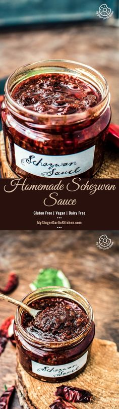 Schezwan sauce is a spicy and hot Chinese chili sauce which is used in many fusion Indo Chinese dishes. It's spicy, slightly sweet, slightly tangy in taste. Indian Food Recipes, Asian Recipes, Vegetarian Recipes, Chutney Recipes, Sauce Recipes, Gluten Free Chinese Food, Schezwan Sauce, Chocolate Recipes, Food Videos