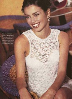 Patrón #144: Blusa Blanca a Crochet #ctejidas http://blgs.co/T7WYv3