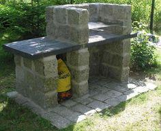 Grill ogrodowy Pawła | budowa grilla ogrodowego, grill murowany, barbecue