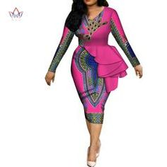 african fashion Image of Fashion 2019 spring Africa Dresses for women vestidos Print Fabric Elegant Africa Clothes Ruffles African Clothing BRW Ankara Dress Styles, Latest African Fashion Dresses, African Dresses For Women, African Print Dresses, African Print Fashion, Africa Fashion, African Attire, Women's Fashion Dresses, Ankara Gowns