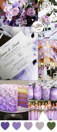 Nessa paleta utilizamos o lilás, que simboliza respeito, dignidade, devoção, piedade, sinceridade, espiritualidade, purificação e transformação, misturada com o natural do verde, e o resultado ficou incrível! Como convite esolhemos o nosso:convite Dandelionque representa toda essa pureza e ingenuidade.  Na C.Arte Ateliêvocê encontra tudo para o seu casamento: desde os convites até a tag da lembrancinha! Romantic Wedding Colors, Purple Wedding, Dream Wedding, Wedding Planner Book, Coordinating Colors, Marry Me, Celebrity Weddings, Wedding Inspiration, Wedding Ideas