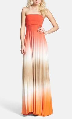 Gorgeous ombre convertible maxi dress.