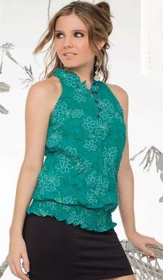 blusas juveniles de moda transparentes de colores - Buscar con Google