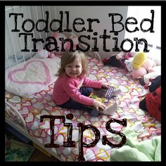 "Toddler Bed Transition Tips.  These are pretty intuitive, but it's nice to have someone affirm what you were already thinking.  :-)  We started out thinking ""we need a toddler bed,"" but then it occured to us that maybe we should go straight to a twin instead, and that's what we'll do."