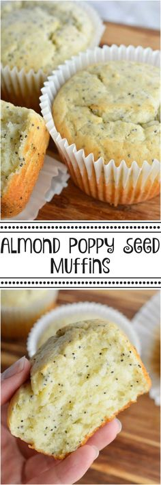 These Almond Poppy Seed Muffins will get you out of bed in the morning! This muffin recipe creates a super moist, flavorful breakfast . . . inspired by Costco Poppy Seed Muffins.