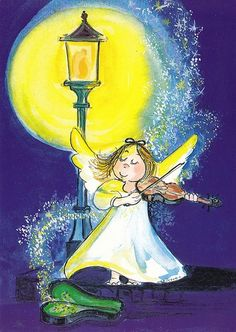 View album on Yandex. Christmas Tale, Vintage Christmas Cards, Vintage Cards, Illustrations, Illustration Art, Happy Paintings, Christmas Illustration, Angel Art, Whimsical Art