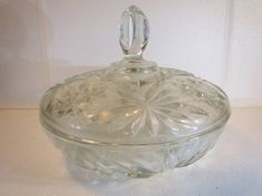Vintage Crystal Candy Dish with Lid by ShellysPlace2Buy on Etsy, $32.99